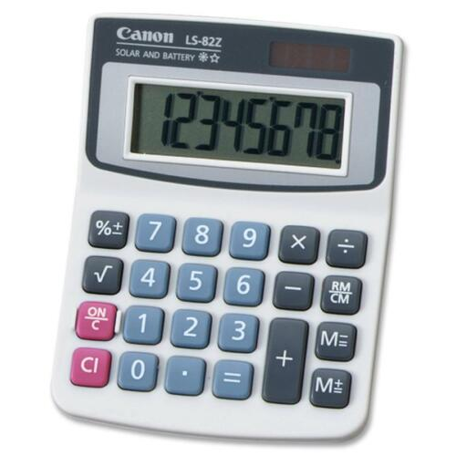 Battery Powered 8 Character - Lcd Solar Canon Ls82z Handheld Calculator s