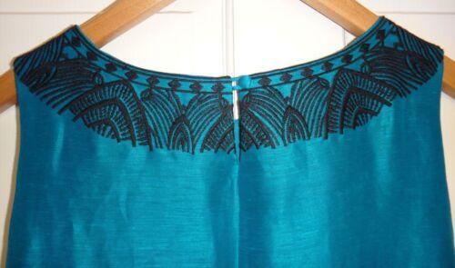 Turquoise Uk8 Sequin Monsoon Size Embroidered Gorgeous Aqua Dress ZUCTwAxSEq