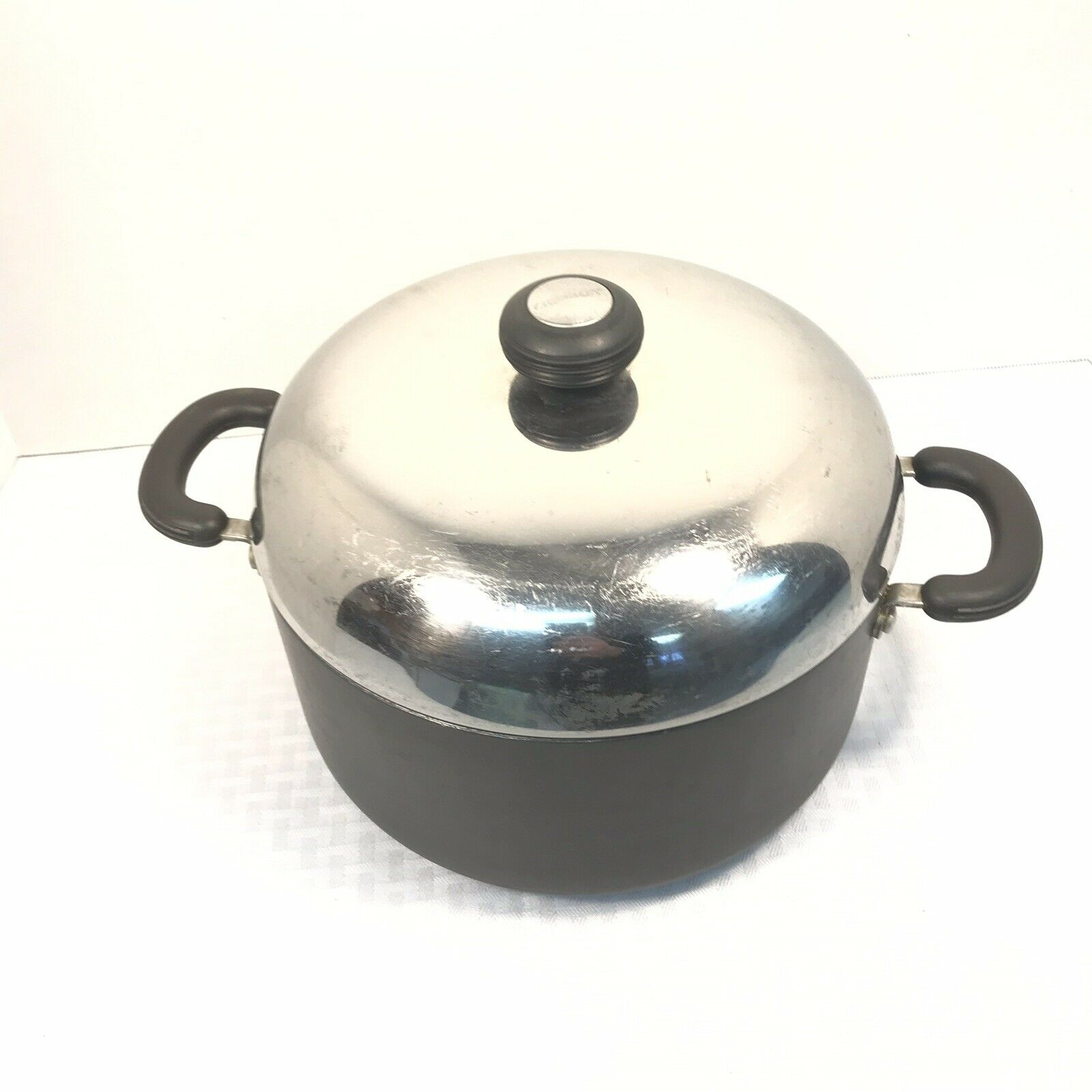 Circulon Hi-Low System Hardened Anazoid Dutch Oven 10 Qt Oven Safe Vintage Model
