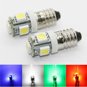 1-10x 6v 12v e10 ey10 led smd schraubsockel gewinde lampe