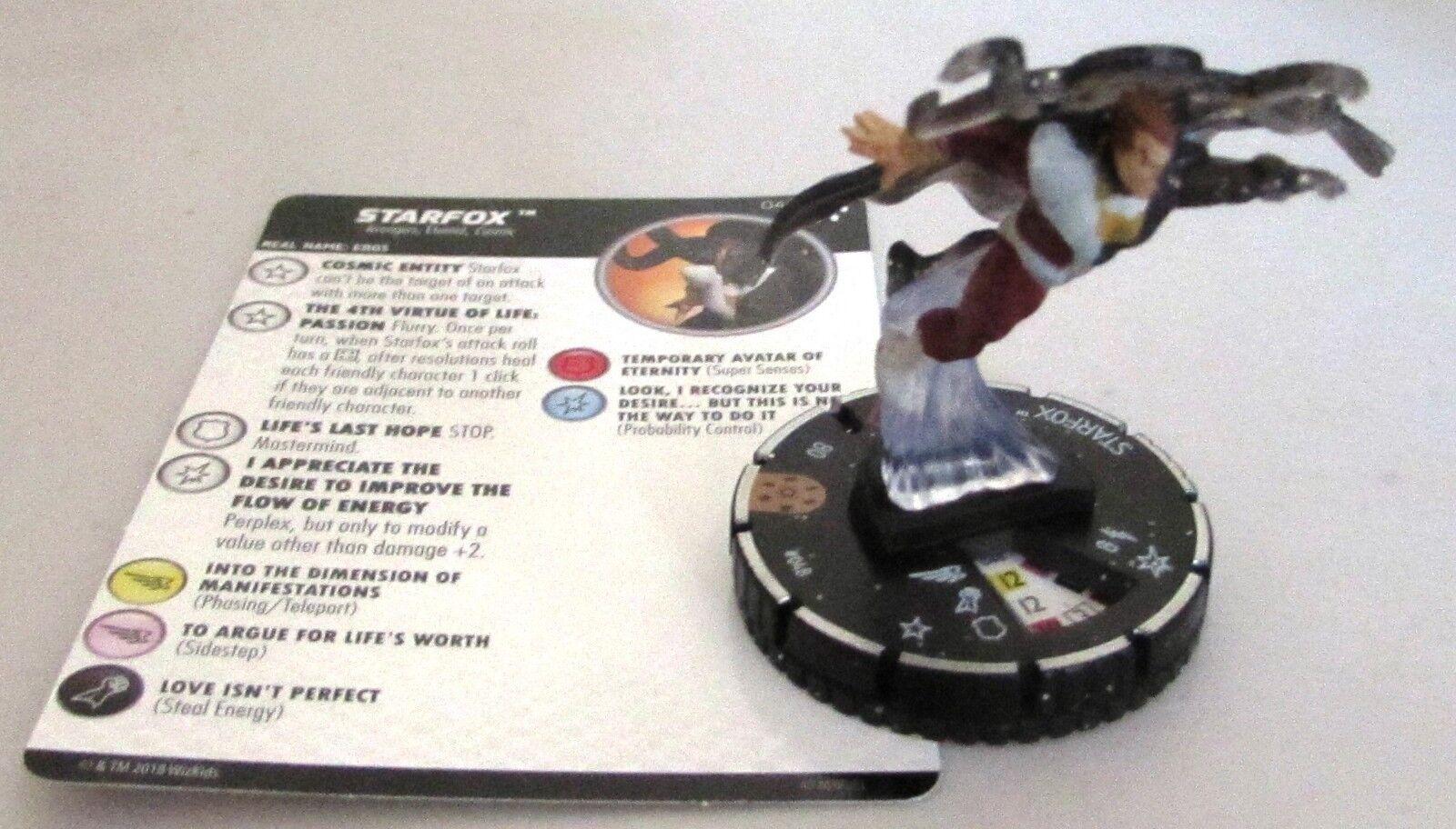 Estrellafox 048 Avengers Infinity Marvel Heroclix  Chase Rare  memorizzare