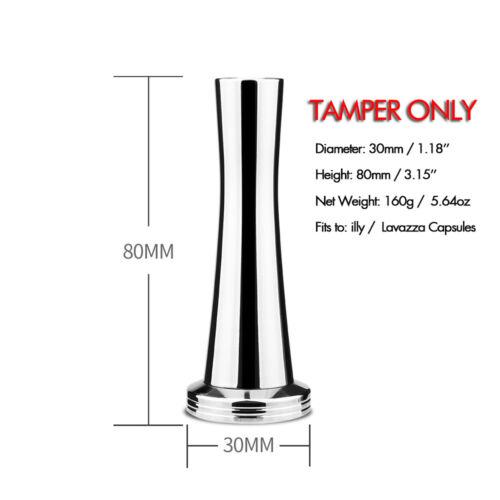 i Cafilas Stainless Steel Coffee Tamper Barista Espresso Flat Base Press Tool