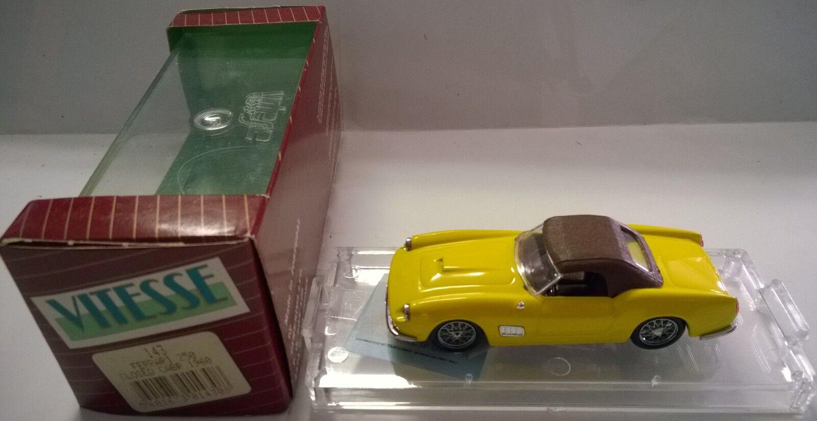 AUTO VITESSE 1 43 FERRARI 250 CLOSED CLOSED CLOSED CABRIOLET 1960 amarillo ART 143 7f0b1a