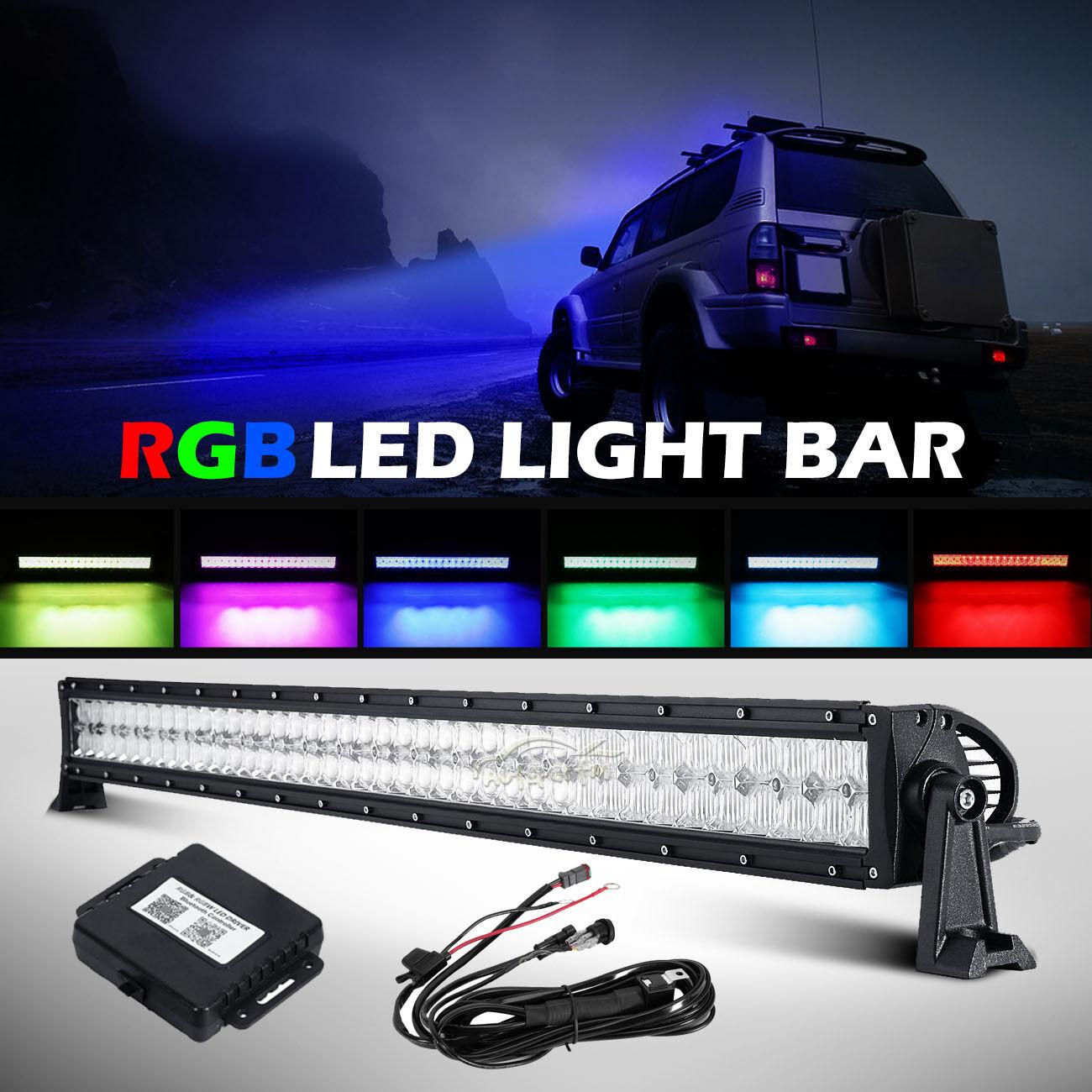 24inch 280w Cree Rgb Led Light Bar Strobe Flash Multi