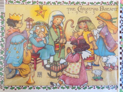 Mary Engelbreit IRON ON TRANSFER 6538 CHRISTMAS PAGEANT 1985 Daisy Kingdom