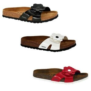 397114e236a1 Image is loading Betula-by-Birkenstock-Mayra-Patent-Thongs-Slides-Sandals-