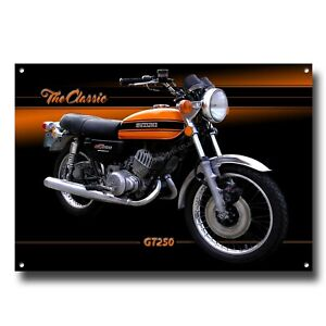 THE CLASSIC GT250 MOTORCYCLE ART METAL SIGN.GARAGE - MAN CAVE - HOME SIGN