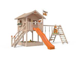 fridolino spielturm baumhaus stelzenhaus schaukel xxl rutsche 1 50m podesth he ebay. Black Bedroom Furniture Sets. Home Design Ideas