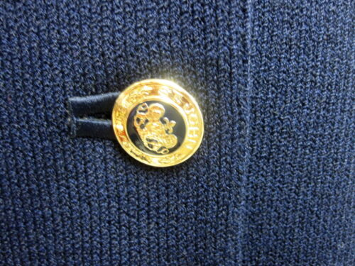 6 Basics Logo John Nwot Gold St Sz Knit Black Jacket Princess lFK31cJT