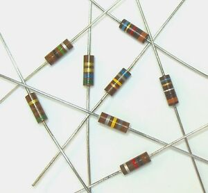1-8K-1-2W-5-Carbon-Composition-Resistor-Lot-of-10-Carbon-Comp-500mW