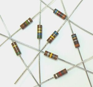 39-Ohm-1-2W-5-Carbon-Composition-Resistor-Lot-of-10-Carbon-Comp-500mW