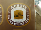 VINTAGE AUS BEER LABEL. CARLTON & UNITED - ABBOTS EXTRA DOUBLE STOUT 375ML 5DS
