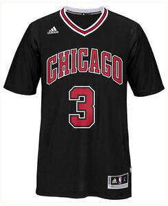 6cbe0a2d6 Chicago Bulls Dwyane Wade  3 adidas NBA Youth Black Swingman Jersey ...
