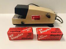 Vtg Staplex Electric Stapler Vf High Speed Stapler With 2 Boxes Opened Staples