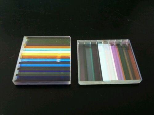 2PCS Defective Projector Optical Glass Flake Slide Combined Color Prism for DIY