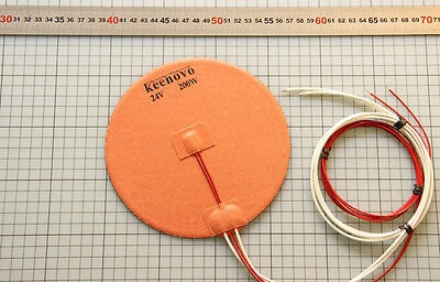 Kossel Delta 3D Printer HeatBed Round Circular Silicon Heater Dia 170mm 200W@24V