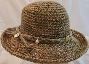 857433d0e Betmar New York Women's Bucket Hat Straw with Shell Accents One Size ...