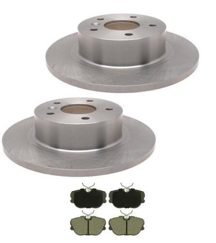 Discovery II Range Rover 2 Rear Brake Rotors /& Ceramic Brake Pads 34146 CD493