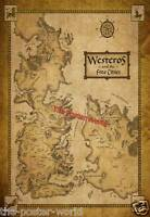 Set Of 2 Game Of Thrones Houses Map Westeros And Free Cit Show Image Poster Art