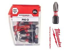 Milwaukee Power Outils MIL472041 SHOCKWAVE ™ Impact Duty embouts PZ2 x 25 mm pack 25