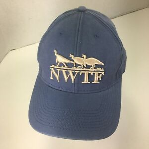 55f169be82d National Wild Turkey Federation Hat Blue NWTF The Game Logo Conserve ...