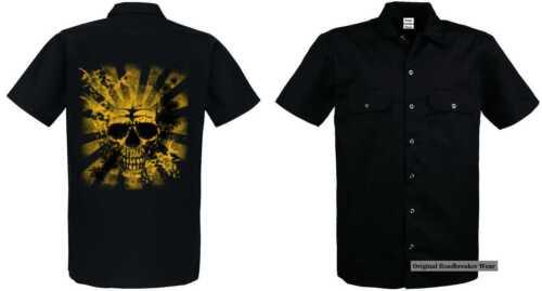 Shirt Skull gothikmotiv Einemtattoo Worker Mit Sunset Modell pqX6Ewdnw