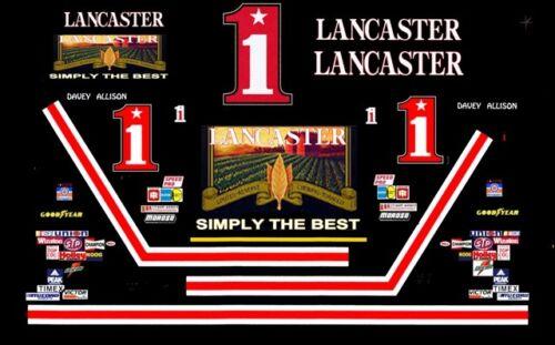 #1 Davey Allison Lancaster Tobacco 1985 1//32nd Scale Slot Car Decals