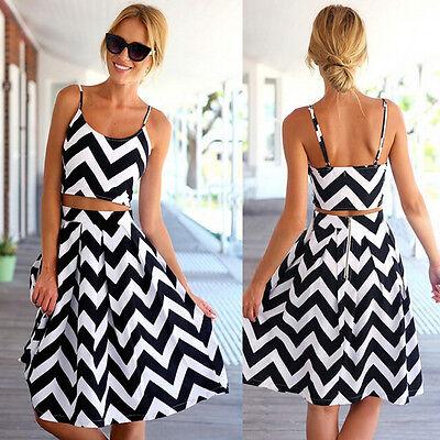 2015 NEW FASHION women's casual braces skirt wave sundress beach summer dress