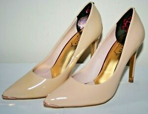 Ted-Baker-London-Woman-039-s-Beige-Nude-Pink-Leather-4-034-Stiletto-Heel-Shoes-Size-5