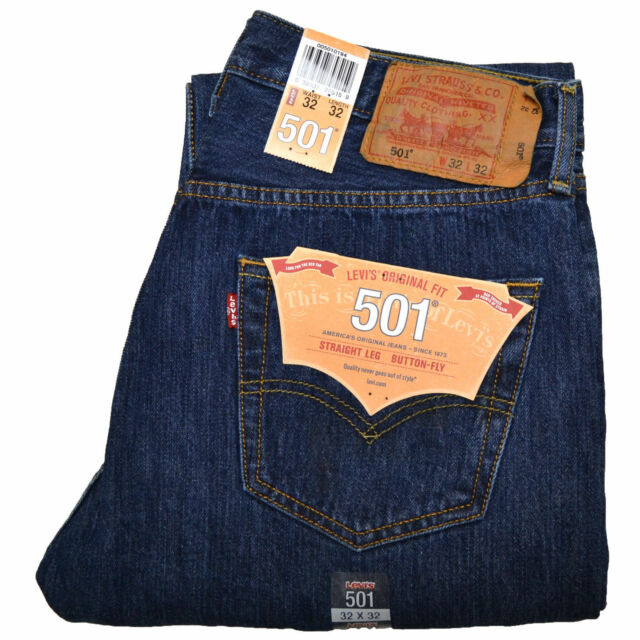 947e3c47 Levis 501 Jeans Size 34 X 36 Dark Stonewash Mens Button Fly #197 for ...