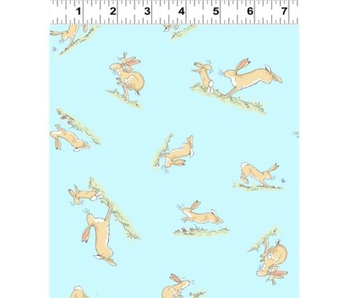 Clothworks GUESS HOW MUCH I LOVE YOU SCATTERED HARES 100/% cotton Fabric