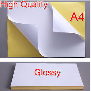 image is loading quality 21x29cm a4 white glossy self adhesive sticker