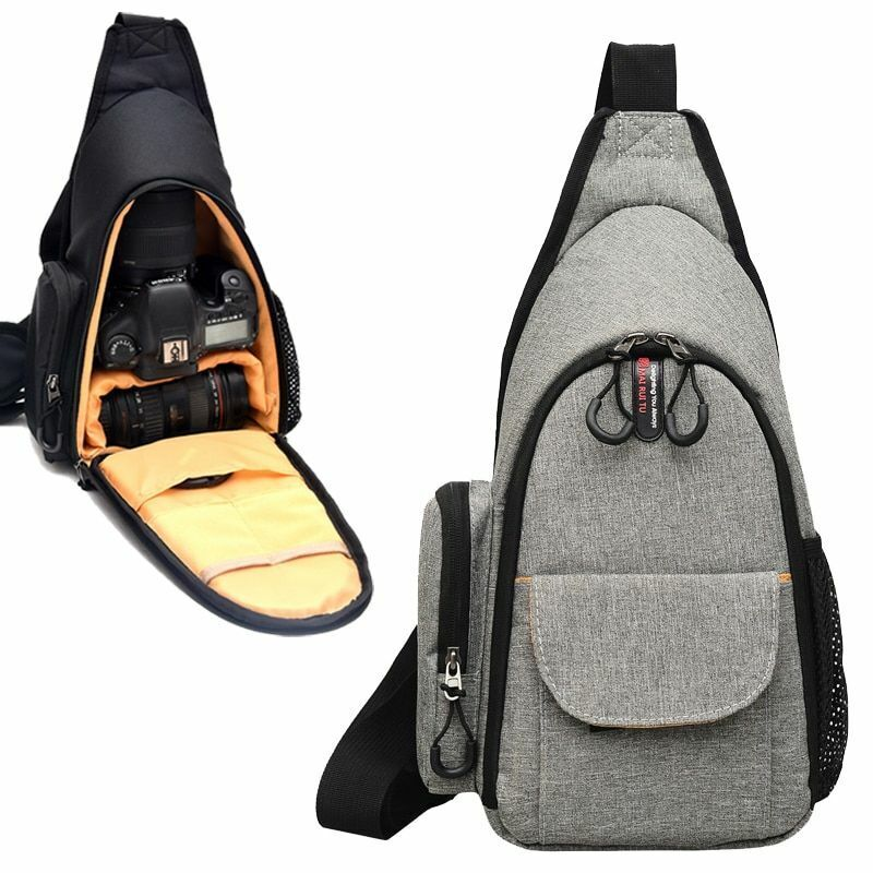 Storage Backpack for Camera Lens with Pockets Nylon Waterproof Outdoor Travel