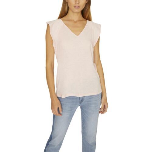 Sanctuary Womens Purple V-Neck Flutter Sleeve Tee T-Shirt Top S BHFO 1749