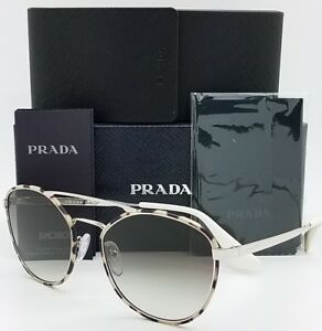 266b725e89832 Image is loading New-Prada-sunglasses-PR63TS-UAO0A7-55mm-Silver-Cinema-