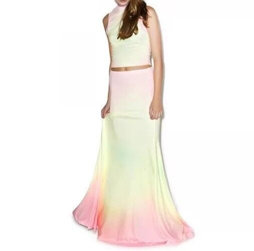 Wildfox RAINBOW BRITE MAXI VERONA SKIRT XS S New Sold Out