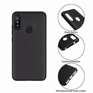 big sale 88be1 064bf Details about For Xiaomi Mi A2 Lite Synthetic fiber Carbon Fiber Silicone  Back Cover Slim Case