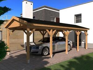 Carport satteldach nÜrburg ii 350x800cm bausatz ebay