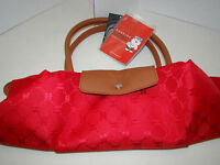 Huskies Handbag - Red - With Tags - Folds - Thailand
