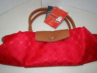 Huskies Handbag - Red - With Tags - Folds - Thailand