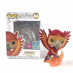 Funko-Harry-Potter-Pop-Fawkes-Flocked-Summer-Convention-Excl-84-W-PROT