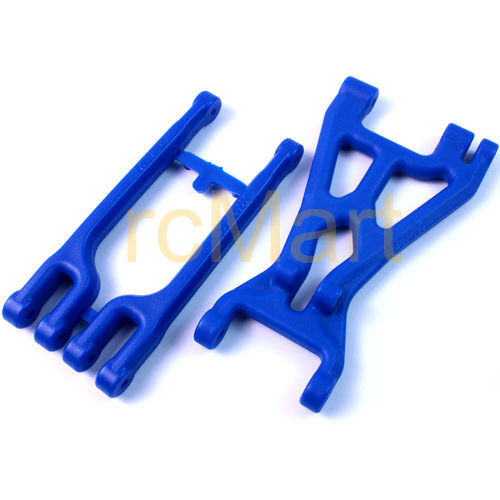 RPM Right Front/ Left Rear Suspension A arms Blue 1:8 HPI Savage RC Car #82005