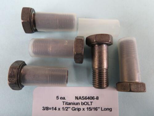 """Hex Head Bolts Aircraft Aerospace NAS6406-8 3//8""""-24 x 15//16"""" Titanium 5"""