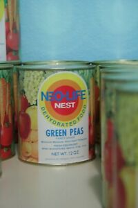 Vintage-1970s-Neo-Life-NEST-Green-Peas-Can-Full-Unopened-Survival-Storage-Pack