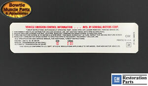 70 454 460HP LS7 COREVETTE EMISSIONS TUNE-UP DECAL LATE 3989375