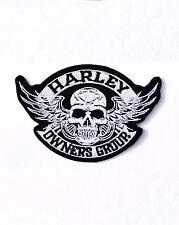 HARLEY DAVIDSON SKULL HOG EMBROIDERED PATCH