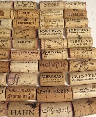 100 Used Pre-Cut Red White Wine Cork Halves No Plastic No Champagne Craft Hobby.
