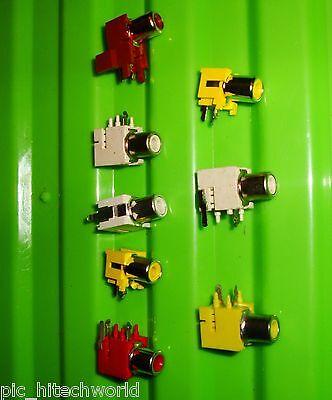 8pcs RCA socket audio video $