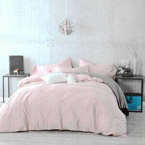 Image Is Loading 100 Cotton Duvet Cover Pillow Cases 3pcs Pale