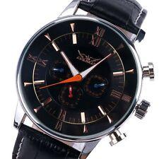 JARAGAR Luxury Casual Auto-Mechanical Genuine Leather Wrist Watch Mens+Box